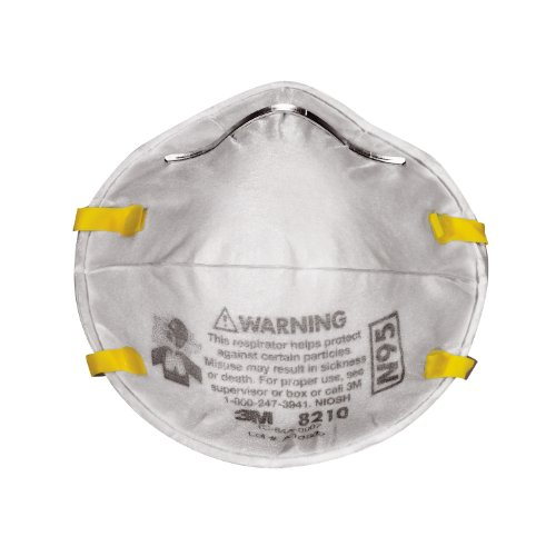 3M 8210DB1-A Tekk Protection Drywall Sand Respirator, 20-Pack