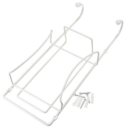 KING DO WAY Support Mural Pour Fer Et Table À Repasser Accessoire De Repassage Rangement Ironing Board Holder Rack Blanc 34cmX14cmX7cm