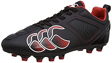 Canterbury Mens Phoenix Club Moulded Rugby Boots E22321-989 Black/Molten Lava/White 7 UK, 41 EU
