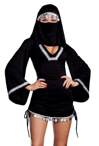 Sexy Middle Eastern Arab Girl Burka Halloween Costume