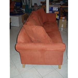 g nstig 3 sitzer venedig bezug bella luna terracotta wildleder sofas test. Black Bedroom Furniture Sets. Home Design Ideas