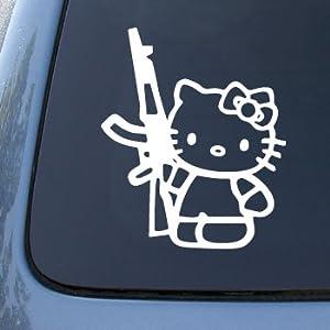 Hello Kitty AK47 - Revolution - Car, Truck, Notebook, Vinyl Decal Sticker #2306   Vinyl Color: Whit