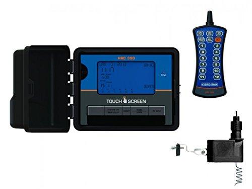 Hydro-Rain HRC 390 Indoor/Outdoor 12 Station Touch Screen Combo with Remote & Wireless Sensor (Orbit Wireless Rain Sensor compare prices)