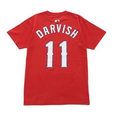 ネーム&ナンバーTシャツ-テキサス レンジャーズ  DARVISH -11 ダルビッシュ (XXL, レッド)