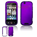 Purple Rubber Feel Snap-On Cover Hard Case Cell Phone Protector for Motorol ....