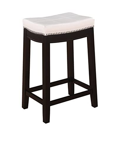 Linon Home Décor Claridge Patches Counter Stool, Dark Brown