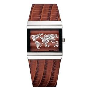 POLICE Timepieces - P10813B-12 - Montre Femme - Quartz - Analogique - Bracelet Cuir Marron