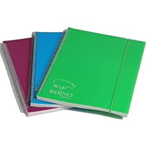 Rhino A4 200 Pages Ruled Polypropylene Notebook With