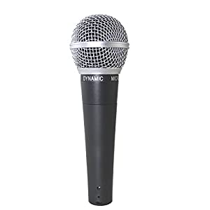 Weymic® New Wm58 Mic Dynamic Vocal High Quality Microphone Classic Style Microphone Audio Instrument Mic with Clean Sound,metal Body Professional Moving Coil Dynamic Handheld Microphone