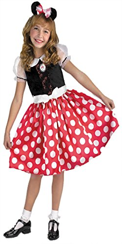 Girls Minnie Mouse Kids Child Fancy Dress Party Halloween Costume