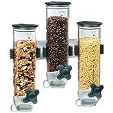 Zevro WM300 Indispensable SmartSpace Wall Mount Triple Dry-Food Dispenser