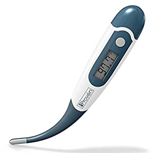Best Digital Thermometer for Rectal, Oral and Axillary Underarm Body Temperature Measurement • iProven Produces 100% Clinically Approved Quick Read Medical Thermometers for Infant, Babies, Children and Adults All-in-on