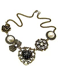 Karatcart 24K Gold Plated Elegant Austrian Crystal Statement Necklace For Women