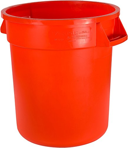 Carlisle 34101024 Bronco Polyethylene Round Trash Container, 10 Gallon Capacity, 16.13