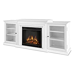 Real Flame 7740E Frederick Entertainment Center with Electric Fireplace, Large, White by Real Flame