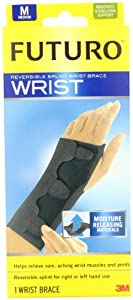 FUTURO Reversible Splint Wrist Brace, Black, Medium