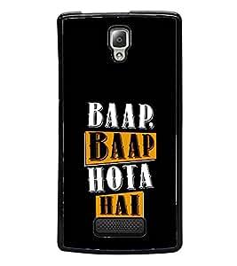 Baap Baap Hota Hai 2D Hard Polycarbonate Designer Back Case Cover for Lenovo A2010