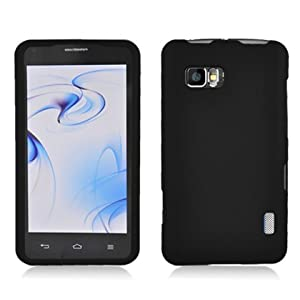 Aimo Wireless LGLS860PCLP001 Rubber Essentials Slim and Durable Rubberized Case for LG Mach LS860 - Retail Packaging - Black