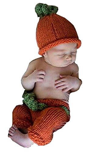 Pinbo® Baby Boys Girls Photography Prop Crochet Halloween Pumpkin Hat Shorts