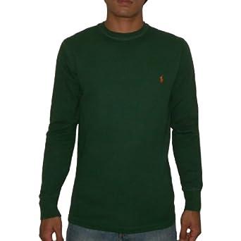 Polo ralph lauren sleepwear mens long sleeve thermal for Dark green mens polo shirt