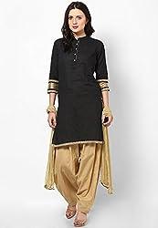 Castle Women's Salwar With Dupatta (Beige_Free Size)