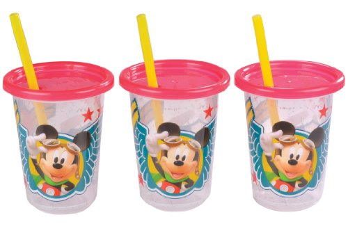 The First Years 3 Pack Mickey Mouse Take & Toss Straw Cup