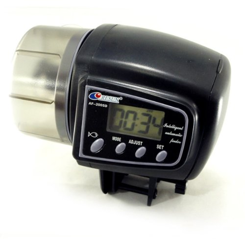 Hk Small size LCD Automatic Auto Aquarium Tank Fish Food Feeder Feeding 4 Times Timer