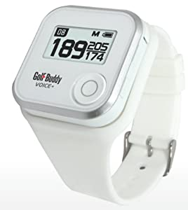 GolfBuddy Voice+ GPS Rangefinder Watch - White