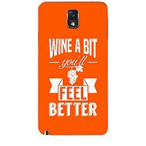 Skin4gadgets Awesome Wine & Dine Quotes, Pattern 12, Color - Dark Orange Phone Skin for SAMSUNG GALAXY NOTE 3