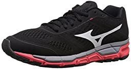 Mizuno Women\'s Synchro MX Running Shoe, Black/White, 8 B US