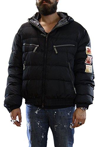 Kejo Ninja Flag Goose Down Jacket L.E. Black Piumino con toppe ricamate XXXL