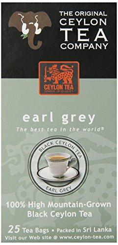 The Original Ceylon Tea Company, Earl Grey Tea, 25-Count Tea Bags (Pack of 6)