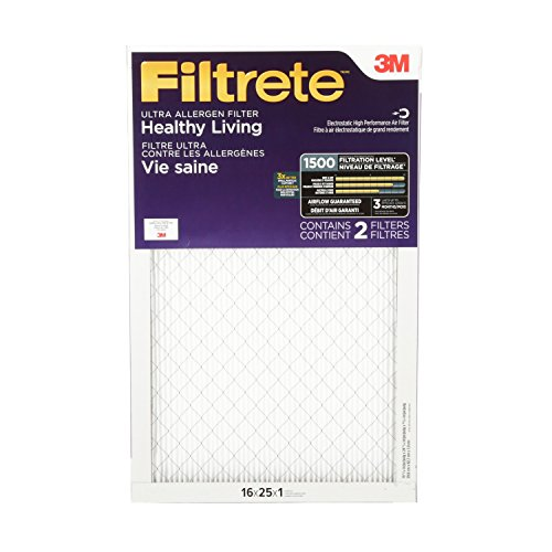 Filtrete Healthy Living Ultra Allergen Reduction Filter, MPR 1500, 16 x 25 x 1-Inches, 2-Pack (3m 16x25x1 Furnace Filter compare prices)