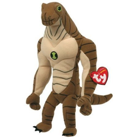Ben 10 Ty Beanie Baby Soft Toy Humongousaur by Ty - 1