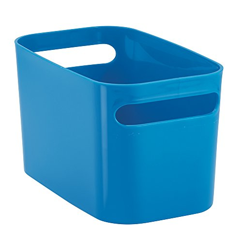 InterDesign Una Bathroom Vanity Organizer Bin for Health and Beauty Products/Supplies, Lotion, Perfume - 10 x 6 x 6, Blue (Cleaning Container compare prices)