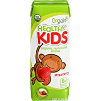 12-Pack Orgain Kids Protein Organic Nutritional Shake (Strawberry 8.25 Ounce)