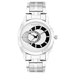 Laurels Original White Dial Analogue Watch for Men (Lo-Polo-701)