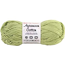 Premier Yarns Afternoon Cotton Solid Yarn, Fern Green