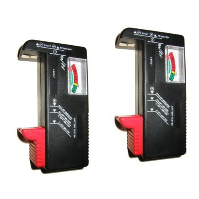 ** Free Shipping 2 Universal Battery Testers(Aa, Aaa, C, D, 9V) For Energizer Duracell Batteries