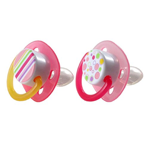Luvable Friends Silicone Orthodontic Pacifier, Pink
