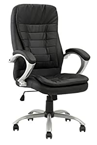 High Back Executive Leather Ergonomic Office Chair W Metal Base O