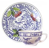 フランス伝統陶器 ジアン オアゾブルー ティーカップ&ソーサー