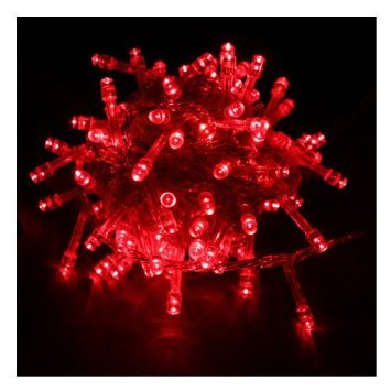 Generic 10M 32.8Ft 100 Led Ip 44 Waterproof Bright Fairy String Light For Outdoor Indoor Room Garden Home Christmas Party Decoration Wedding Holiday Patio Backyard Bedroom Living Room (Red) front-88761