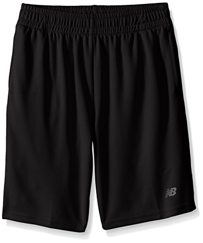 New Balance Kids Big Boys Basic Athletic Short, Black, 8
