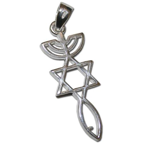 925 Sterling Silver Messianic Seal Pendant Holy