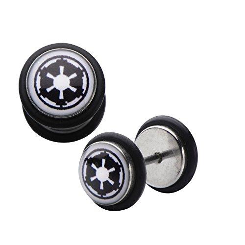 Star Wars Imperial Logo Fake Plug Earrings