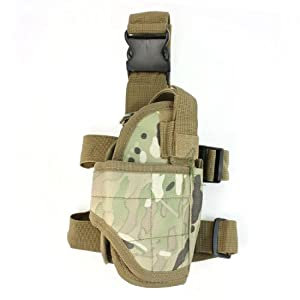 Wargame Camouflage Side Release Hook Tactical Thigh Holster Army Green