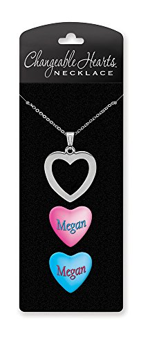 "Dimension 9 Changeable Hearts Personalized Heart Pendant Necklace - Megan, 18"" Chain - 1"