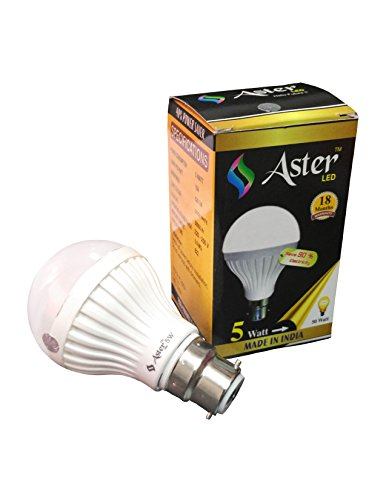 Aster 5W B22 LED Bulb (Pack of 2, White)