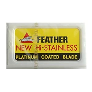 20 Feather Razor Blades NEW Hi-stainless Double Edge